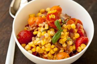 sweet corn bacon salad